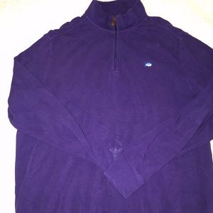 Men's southern tide purple pullover